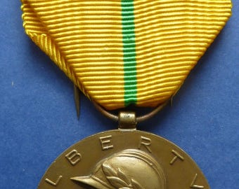 1934 Belgium Commemorative Military Medal of the Reign of King Albert I. Awarded To Military Soldiers & Veterans