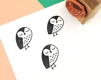 Rubber Stamp, Laser Engraved Stamp, Owl Stamp, Cute Owl Stamp, Hand Drawn Stamp, Teacher Stamp, Craft Stamp, Card Making, Scrapbooking
