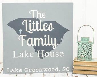Lake House Sign - Lake Signs - Custom Lake House Signs - Lake House Decor - Personalized Sign - Lake Decor - Last Name Established Sign