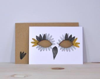 Card Mask, black / gold