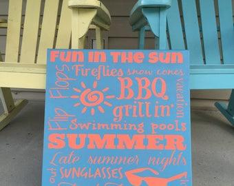 Canvas Summer Subway Art
