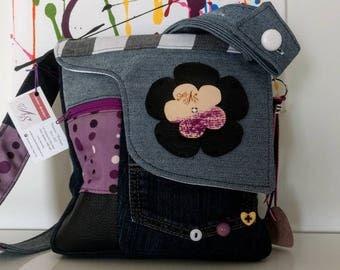 Unique purple handbag made in Quebec by bags