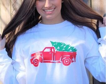 Christmas tree and truck shirt