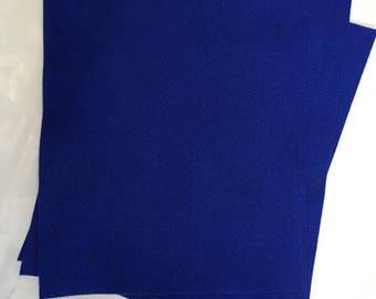 5x Blue Felt Sheets