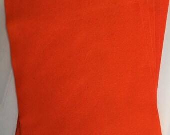 5x Orange Felt Sheets