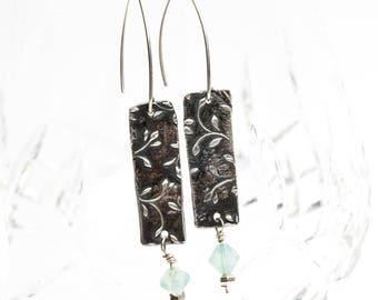 Floral tribute earrings