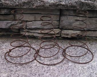 three rusty vintage bed springs mattress springs