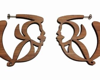 Logo Lrg Bamboo Earrings-KSE101006