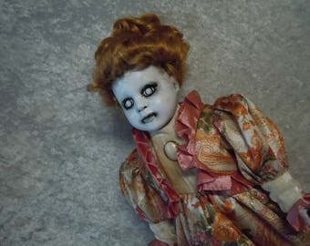 Creepy Doll with White Eyes #27  #dayofthedollies