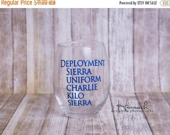 SALE Deployment Survival Wine Glass, deployment, Deployment glass, deployment wine, deployment survival, military wine glass, wine glass, na