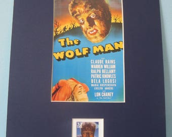 Claassic Movie Monsters - The Wolf Man starring Lon Chaney Jr. honored by  the Wolf Man Stamp