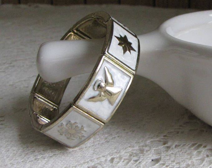 Christmas Bracelet Angels Star Snowflakes Vintage Women's Holiday Jewelry and Accessories