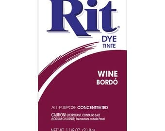 Powder Rit Dye - Wine All Purpose Concetrated
