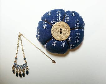 Blue Hijab Pin & Cushion