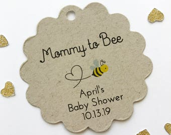 Mommy To Bee Baby Shower Favor Kraft Tags Honey Jar