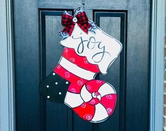 Christmas Stocking Door Sign