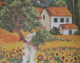 Needlepoint tapestry kit, PROVENCE LANDSCAPE, 30 x 40 cm, T057