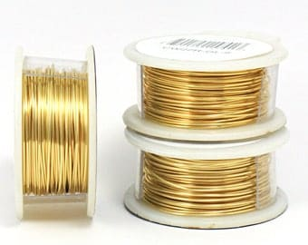 24g Gold Plated Crafting Wire, Tarnish Resistant Craft Wire