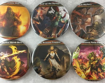 6 pcs, World of Warcraft, Magnets, Trading Card, Gamer, Video Games, Elf Warrior, 2.25 Inch, Recycled Paper, Geeky Nerdy, Gift Set, Item #75