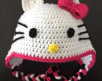 Kitty Crochet Hat