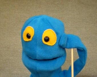 Blue Hand Puppet made by Weegie Puppets, Scotland UK