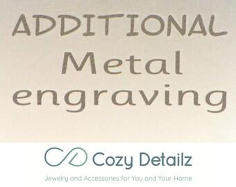 Extra aangepaste gravure, gegraveerde sluiting, verborgen bericht, gepersonaliseerde metalen gravure gepersonaliseerde cadeau vrouwen mannen