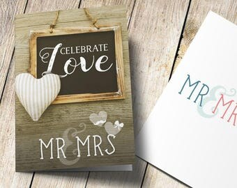 couples greeting card, mr and mrs, personalized wedding card, engagement card, Mr and Mr card, Mrs and Mrs card, anniversary card