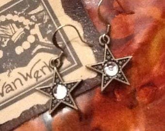 Star Earrings Rustic Glam earrings Boho Cowgirl earrings