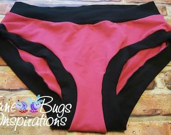 XXS-XXXL Pink & Black Bunzies - super booty - custom underwear - cotton panties - Bunzies - Solid Bunzies - solid full coverage bunzies