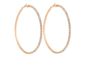 silver or gold crystal hoop earrings latest fashion trend