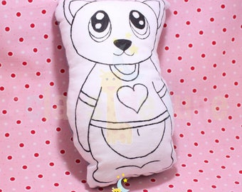 Doudou cotton kitten painting 20cm
