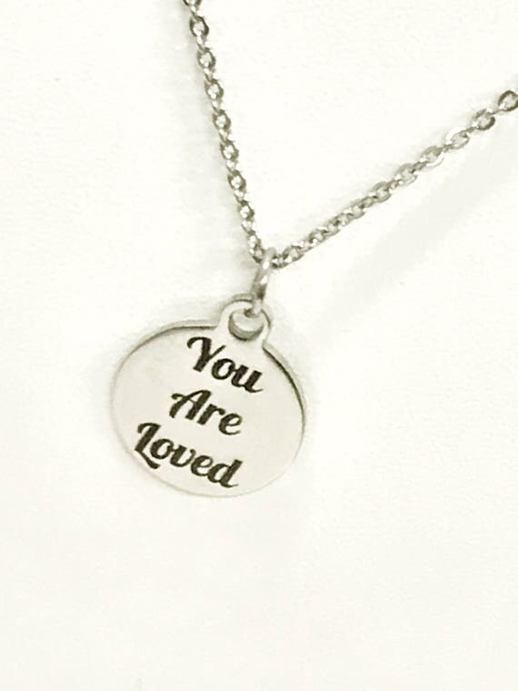 Love Necklace, You Are Loved Necklace, Love Jewelry, Daughter Necklace, Wife Necklace, Girlfriend Gift, Christian Love Gift, Daughter Gift