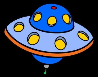 UFO Aliens Cartoon 3.5 inch Sticker Vinyl Decal Stickers die cut