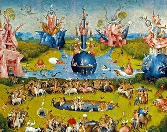 Laminated placemat Bosch 'Garden of delights 1'