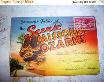 60% off till 8/15 1950 Souvenir Folder of  Scenic Missouri Ozarks