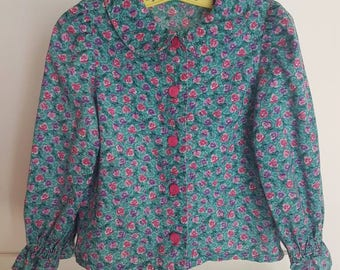 Vintage floral toddler blouse approx size 3