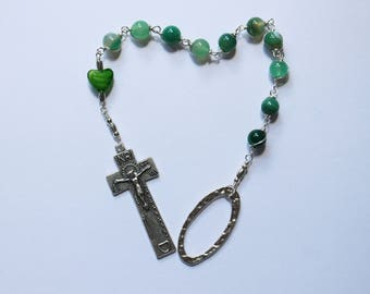 Unbreakable, Wire Wrapped, Irish Penal Rosary