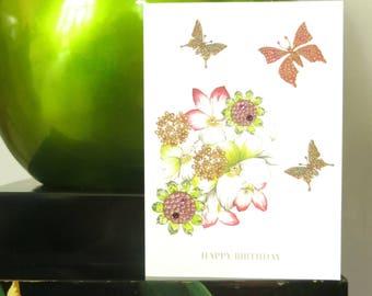 Hibiscus Flowers card