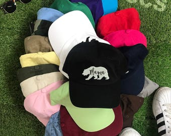 Dad Hat   MAMA BEAR Hat   Mom Hat  Gift for moms   Bear Family Hat   Matching Family Hats   Mama Bear Family    Mothers Day Gift for mom