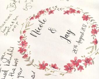 Wedding guest book- Boho wedding guestbook- Elegant wedding guest book