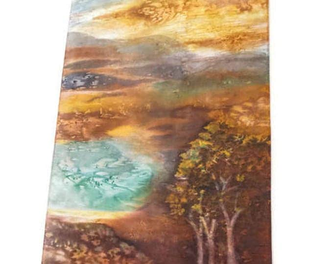 Western Decor-Watercolor Silk Tapestry-Abstract Landscape-Nature Tapestry-Western Gifts-Home Decor Gift-Wall Hanging-Watercolor Home Decor