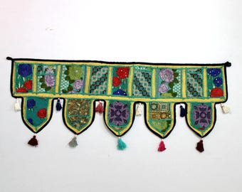 Handmade Window Door Valance Home Decor Decorative Embroidered Patchwork Toran Pelmet Topper Drapery Top Hanging Tent Decoration Art E938