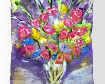 Item #21 Purple Bouquet Pillow (16x12)