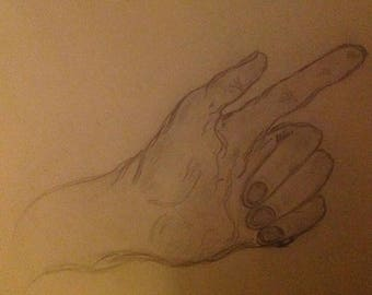 "Wow 55% Off Sale OOAK Drawing ""Hands"""