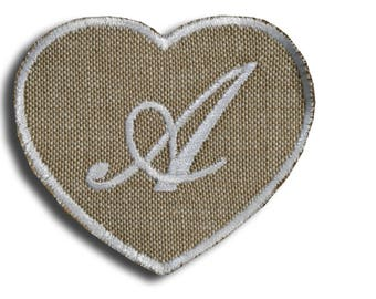 """Thermo Monogram """"Letter A"""" heart"""