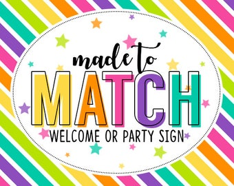 M2M Welcome or Party Sign - Add on