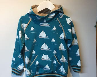 Sailing boats hoodie, 90 and 104 mt