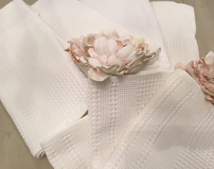 Set of honeycomb Towels