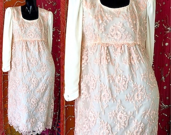 Boho Dress Party Lace Dress Mod Lace Rhinestone Dress Vintage 70s Lace Dress