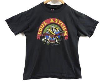 VTG Soul Asylum Tour T-Shirt - Large - 1992 - Grave Dancers Union Tour - Band Tee - 90s Clothing - Vintage Tee - Vintage Clothing -